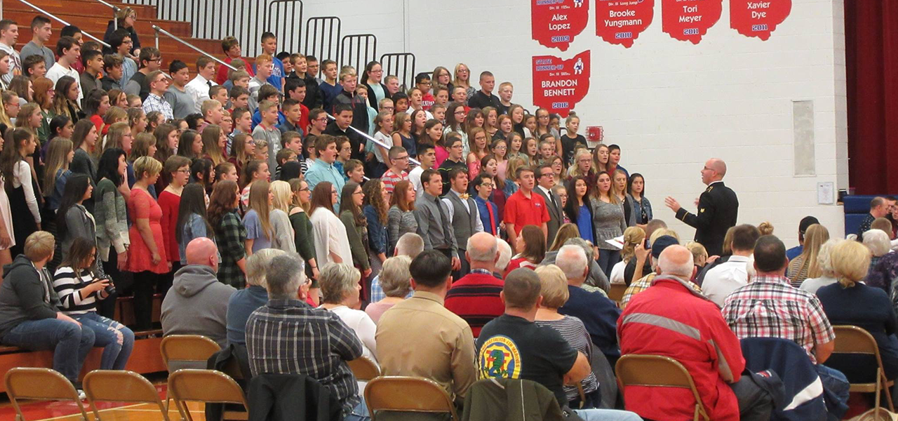 Veterans Day Mass Choir Performance