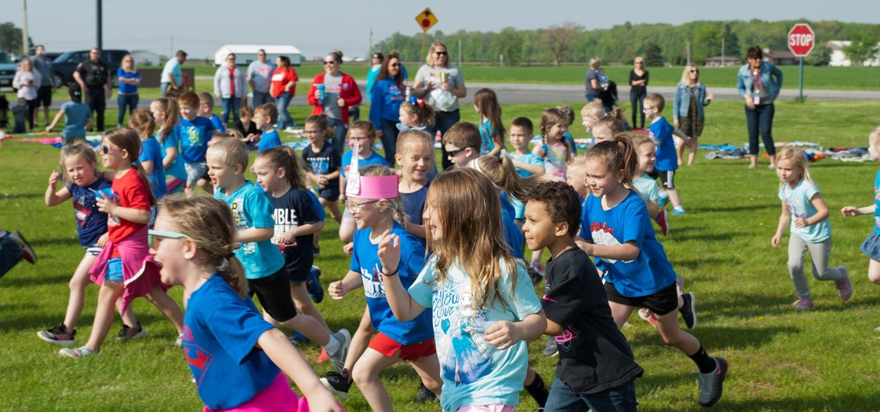 Patrick Henry Students Running at Field Day